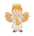 angel bell musical icon vector image vector image