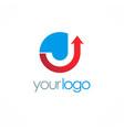 arrow up company logo vector image vector image