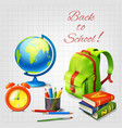 back to school design concept vector image