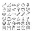 back to school icon set doodle style education