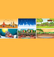 background scenes nature vector image