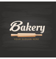 bakery text rolling pin background image vector image