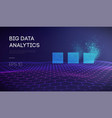 big data business inteligence technology vector image vector image