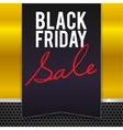 black friday sale large banner pennant flag vector image vector image
