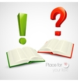 books and characters or vector image vector image