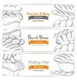 Bread house or bakery shop sketch banners vector image vector image