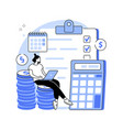 budget planning abstract concept vector image vector image