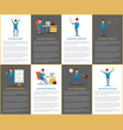 business idea and strategy process and plan job vector image vector image
