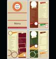 cafe restaurant menu vector image vector image