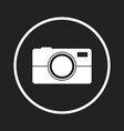 camera icon logo on black background flat vector image vector image