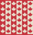canadian flag symbols seamless pattern vector image vector image