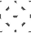 car trailer pattern seamless black vector image vector image