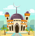 cartoon luxury great mosque building vector image vector image