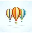 Colorful hot air balloons isolated on white vector image