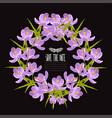 crocus floral wreath vector image vector image
