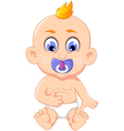 cute baby cartoon posing for you design vector image vector image