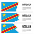 democratic republic of the congo flag banners vector image