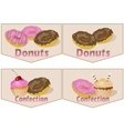Donuts and confectionary vector image