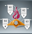 eternal flame icon may 9 - victory day vector image