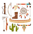 ethnic and tribal elements and symbols of american vector image