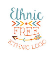ethnic free print boho style element hipster vector image