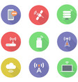 flat wireless icons vector image vector image