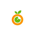 fruit eye logo icon design vector image
