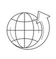 globe with latitudes line icon vector image vector image