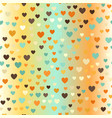 glowing retro heart patterrn seamless love vector image vector image