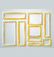 gold shiny glowing frame set gold banners vector image vector image