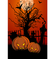 halloween with tombstone vector image vector image