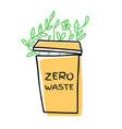 hand drawn zero waste vector image vector image