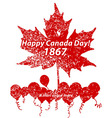 Happy Canada Day card in format vector image vector image