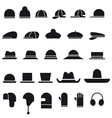 Hat icon set vector | Price: 1 Credit (USD $1)