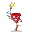 have an idea plunger character cartoon style vector image vector image