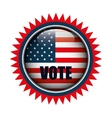 Icon button flag usa vote graphic