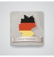 Icon of Germany map with flag vector image