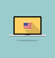 Independence day screen desktop flat design vector image vector image