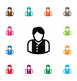 isolated manager icon mister element can vector image vector image