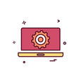 laptop setting gear icon design vector image