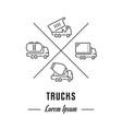 line banner trucks vector image