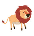 lion cartoon colorful silhouette in white vector image vector image
