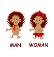 Man and woman toilet signs vector image