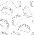 mexican taco fastfood silhouette seamless pattern vector image vector image