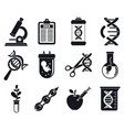 modern genetic engineering icons set simple style vector image vector image