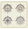 Nautical vintage compass set vector image vector image