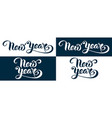 new year artistic hand lettering design vector image