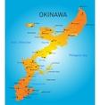 okinawa map vector image