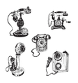 Old vintage telephone vector image