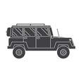 Outline Suv Black and White Icon vector image